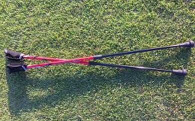 くにの松原ウォーキングポール2本セット(赤)