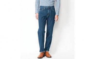 (403-393-35)EDWIN メンズジーンズ「インターナショナルベーシック レギュラーストレート(中色ブルー)」