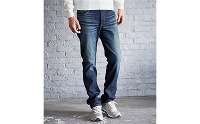 (ER03-126-XS)新感覚 !スゴーイ楽なジャージみたいなジーンズ 「ジャージーズ メンズストレート(中濃色ブルー) 」