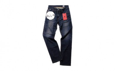 (ED03-126-32)EDWIN メンズジーンズ「E-STANDARD レギュラーストレート(中濃色ブルー)」