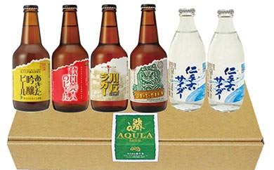 秋田の地ビールあくらビール&秋田の地サイダーニテコサイダー入リファミリーセット