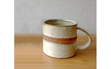 風唄窯 ライン入りマグカップ白