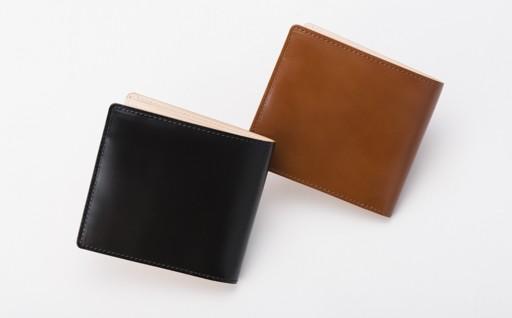 H2911-01 LUEGO コードバン小銭入れなし二つ折り財布