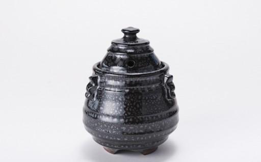 K2912-01 伝統工芸「新庄東山焼」油滴紋様・香炉