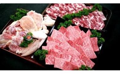 都城産宮崎牛「Mの国黒豚」・都城産「宮崎地頭鶏」 焼肉セット