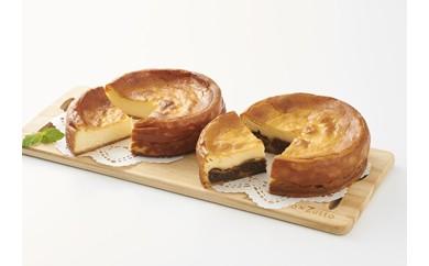 基本の雪岡の「ベイクドチーズケーキ」と人気の「いちじくのチーズケーキ」2個セット