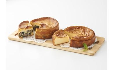 五つ星兵庫認定「丹波黒豆のチーズケーキ」とフレッシュシェーブルの「やぎのチーズケーキ」2個セット