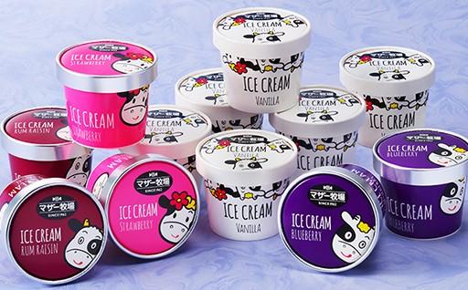 マザー牧場 アイスクリーム12個セット