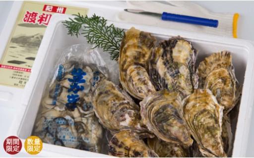【A76】畦地水産「幻の渡利牡蠣」(むき身、殻付きセット・生食用)