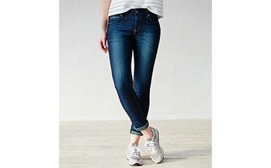 (ER116L-126-L)新感覚 !スゴーイ楽なジャージみたいなジーンズ 「ジャージーズ レディーススキニー(濃色ブルー) 」