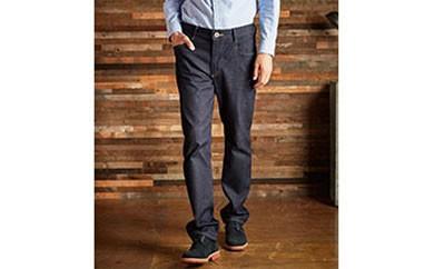 (ER03-100-XS)新感覚 !スゴーイ楽なジャージみたいなジーンズ 「ジャージーズ メンズストレート(濃色ブルー) 」