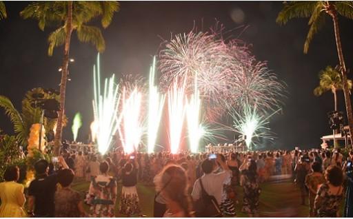 907 ワイキキビーチで境町の花火大会が見れる!ロイヤルハワイアンに宿泊 ハワイ5日間ペア旅行