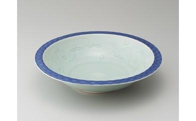 青白磁染付松竹梅菓子鉢