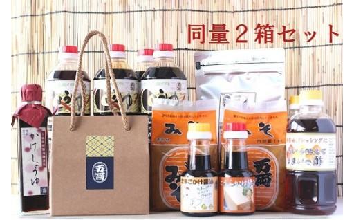 九州醤油調味料いろいろ詰合せ(かけ醤油入)2箱セット(H-1)