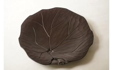 鎌倉彫博古堂 平皿 「石蕗」