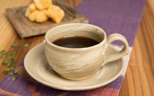 Y061 因久山焼 刷毛目コーヒーカップ(1客)