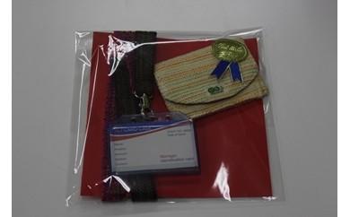 [限定商品]さをり織りの名刺ケースとネーム(パスカード)ホルダーセット【AE02-C】