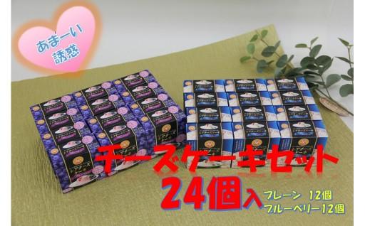 【A228】レアチーズケーキセット(プレーン&ブルーベリー)