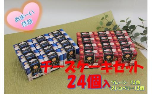 【A227】レアチーズケーキセット(プレーン&ストロベリー)