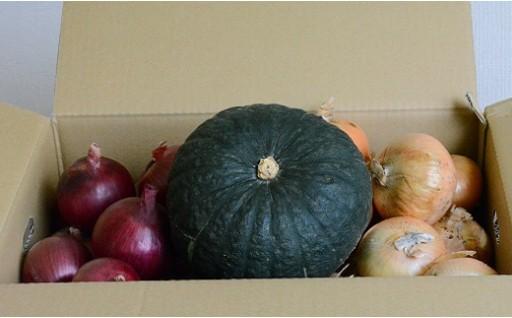 A17 秋野菜セット(玉ねぎ10kg、紫玉ねぎ3kg、かぼちゃ1玉)