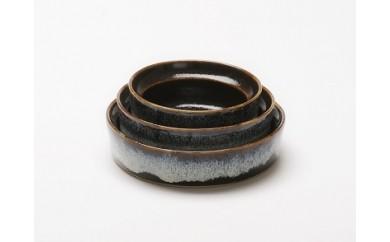 aeru 青森県から 津軽焼の こぼしにくい器(3点セット)