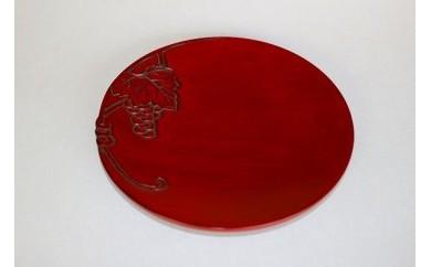 鎌倉彫 平皿 6寸ブドウ