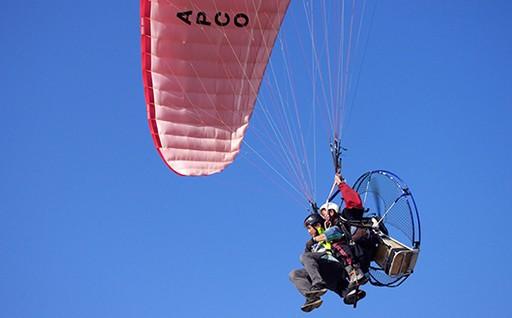 富津岬で絶景の空中散歩!モーターパラグライダー1日体験コース