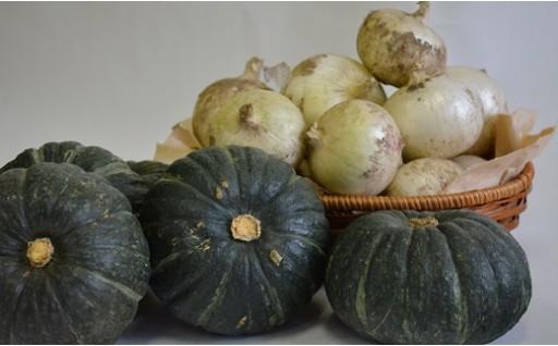A15 夏野菜セット(白玉ねぎ5kg、坊っちゃんかぼちゃ3kg)