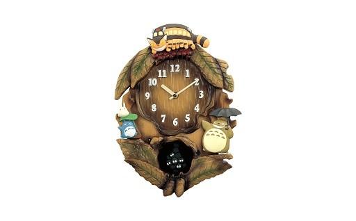 D010 リズム となりのトトロ掛け時計
