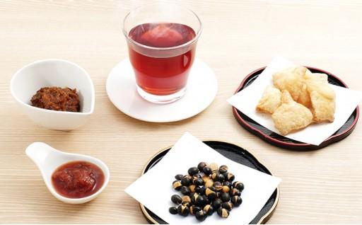 [№5539-0048]農家手づくりの味詰合せ③≪5種:味噌・ジャム・お菓子・お茶≫