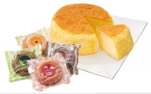 A-1803 バターたっぷり「ふわふわバターケーキ」と「焼きドーナツ」