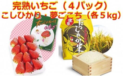 B-3105 EM自然農法で育ったいちご・お米セット