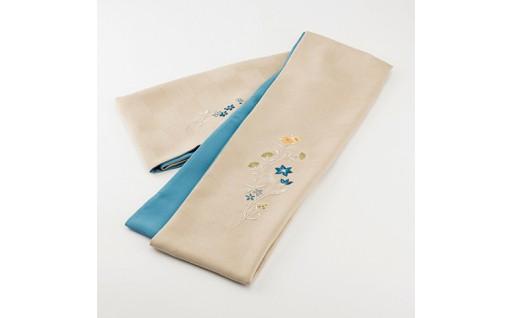 16D-2加賀繍スカーフ「クライムフラワー」