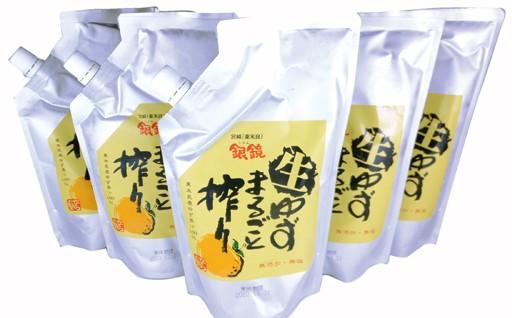 2-15 「銀の柚子」生ゆずまるごと搾り 500ml×5P