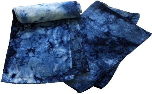 Y04-藍染スポーツタオル・タオルセット