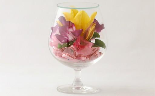Z28 ボトルフラワー✿チューリップ(グラスS型)【花の美しさそのまま】