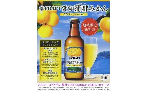 【22002】クラフトチューハイ 愛知蒲郡みかん330ml×12本入×2