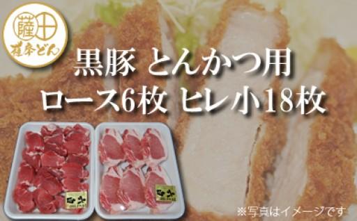 B-014 薩摩どん 六白 黒豚 とんかつ用ロース6枚 ヒレ小18枚(約12人前)
