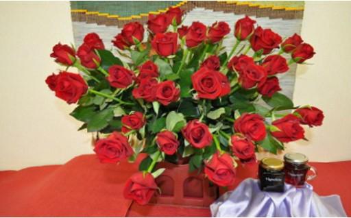 30-5-8.薔薇の花50本、薔薇ジャム、薔薇シロップ