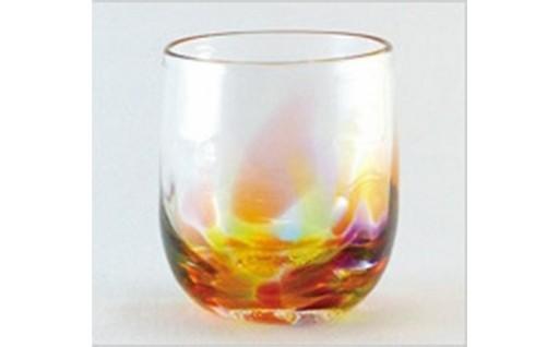 18172.肥前び~どろ 虹色ロックグラス