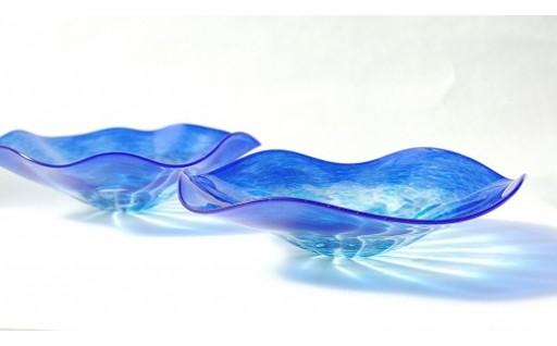 C-20 ペア皿鉢「Ringing Blue」