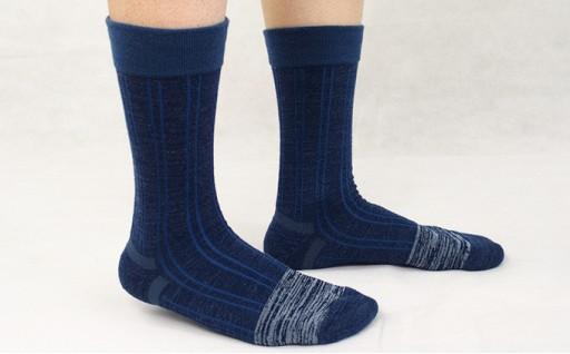 [№5544-0023]口ゴムがないので締めつけないあったか靴下3足セット(紳士)