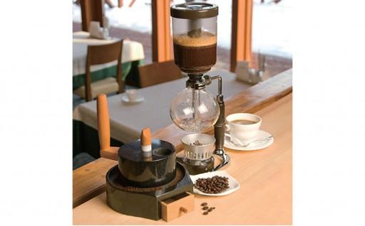 [№5525-0139]黒みかげ石製 石臼コーヒーミル(休日のコーヒー)