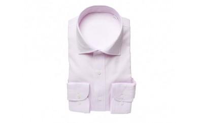 【三豊肌衣】ドレスシャツ ピンク セミワイドLサイズ