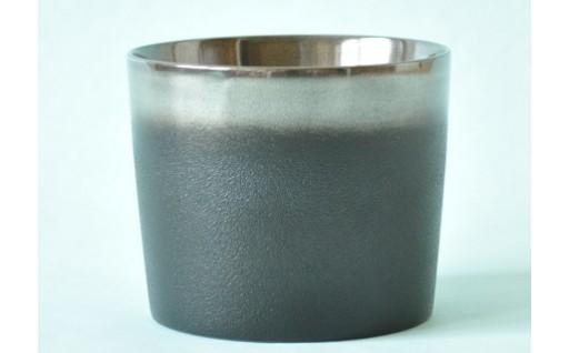 I6301 川連漆器 銀彩カップ(黒)