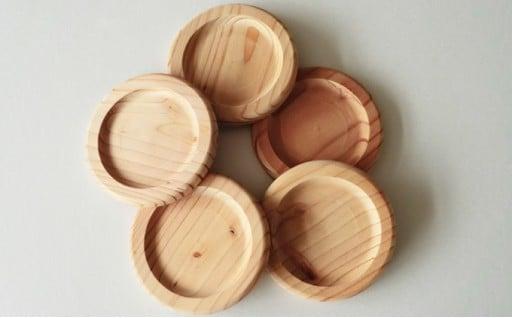 [№5525-0152]あいもり 北海道産木製コースター