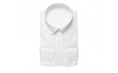 【三豊肌衣】ドレスシャツ ホワイト ボタンダウンSサイズ