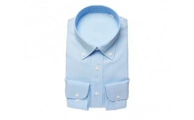 【三豊肌衣】ドレスシャツ サックス ボタンダウンSサイズ