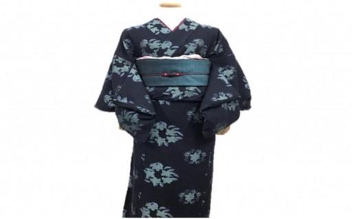 K-08 井原デニム着物刺繍ネイビー(レディス) Lサイズ