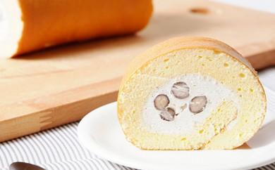 極上ロールケーキ《高級丹波黒使用》丹波篠山黒豆ロール/ハーフ